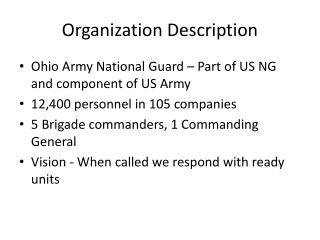 Organization Description