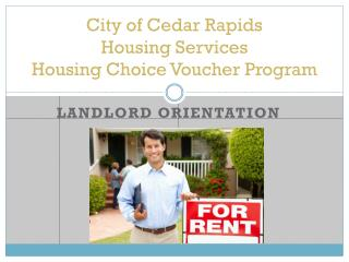 City of Cedar Rapids  Housing Services Housing Choice Voucher Program