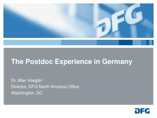 The Postdoc Experience in Germany