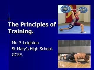The Principles of Training.