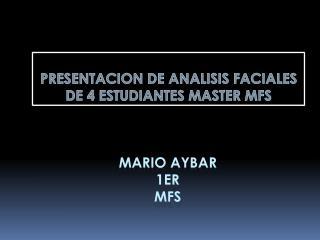 Mario  aybar 1ER mfs