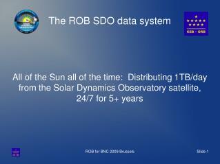 The ROB SDO data system