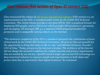 Gluu releases first version of OpenXDI (OX)
