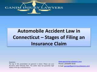Stages of Filing an Insurance Claim