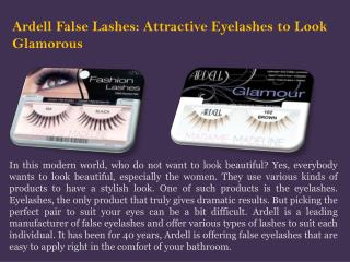 Attractive Ardell False Eyelashes