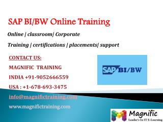 SAP,BI/BW,ONLINE,TRAINING IN INDIA