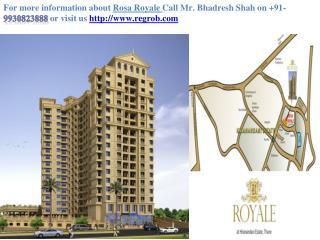 1,2 BHK residential flat Rosa Royale, in Ghodbunder road