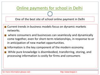 Discussion is to prepare best onlinepayment for school in De