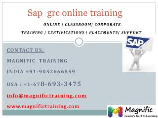 sap grc online training