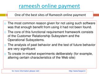 How can you Find Best site of rameesh online payment