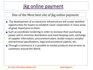 Some interesting issues about jkg online payment