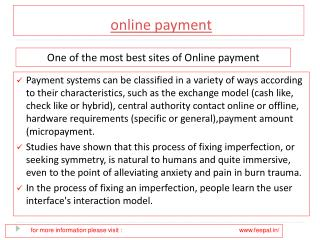 Edit some Personal Information about online payment