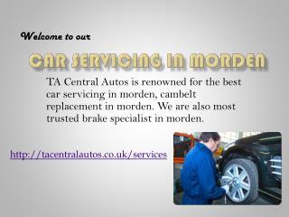 car servicing in morden