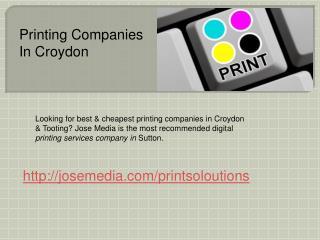printing companies in croydon