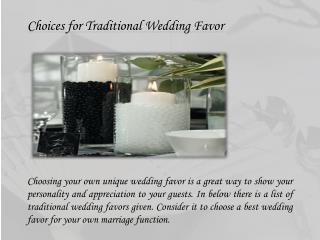 Canada Wedding Favors
