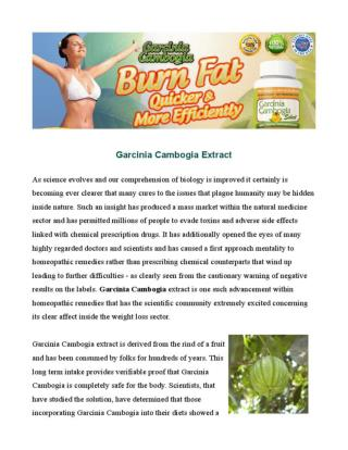 Garcinia Cambogia - Natural and Safe Appetite Suppression