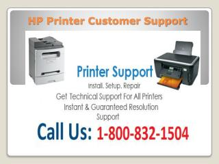 1-800-832-1504 HP Printer Customer Support | Tech Support US