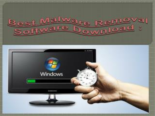 Best Malware Removal Software Download