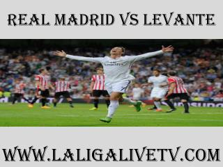 Watch Real Madrid vs Levante live telecast