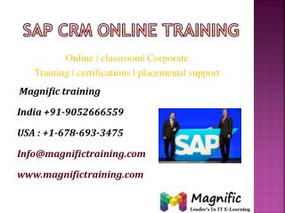 sap crm online training in india