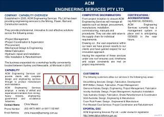 ACM  ENGINEERING SERVICES PTY LTD