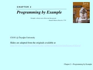 Chapter 2—Programming by Example