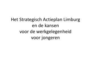 H et Strategisch  A ctieplan Limburg en de kansen  voor de werkgelegenheid  voor jongeren