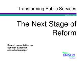 Transforming Public Services