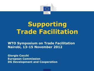 Supporting Trade Facilitation