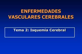 ENFERMEDADES  VASCULARES CEREBRALES