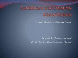 Caribbean Civil Society Consultation