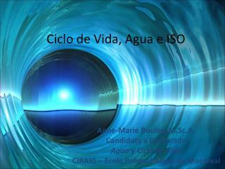 Ciclo de Vida, Agua e ISO