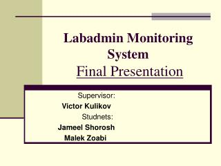 Labadmin Monitoring System Final Presentation