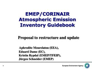 EMEP/CORINAIR Atmospheric Emission Inventory Guidebook