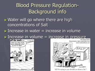 Blood Pressure Regulation- Background info