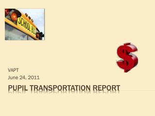 Pupil Transportation Report