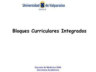 Bloques Curriculares Integrados