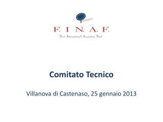 Comitato Tecnico Villanova di  Castenaso , 25 gennaio 2013