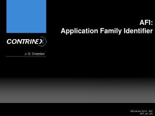 AFI: Application Family Identifier