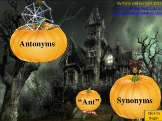 Antonyms Ant Synonyms