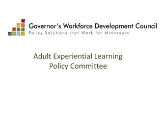Adult Experiential Learning Policy Committee