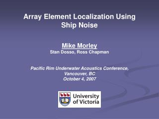 Array Element Localization Using Ship Noise