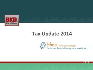 Tax Update 2014