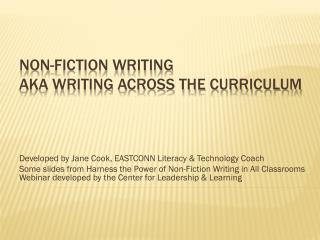 Non-fiction Writing AKA Writing Across the Curriculum