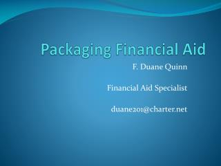 Packaging Financial Aid