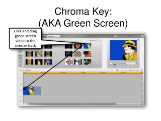 Chroma Key:  (AKA Green Screen)