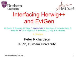 Interfacing Herwig++ and EvtGen
