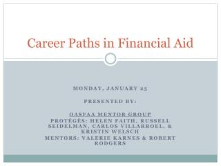 Career Paths in Financial Aid