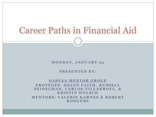 Career Paths in Financial Aid