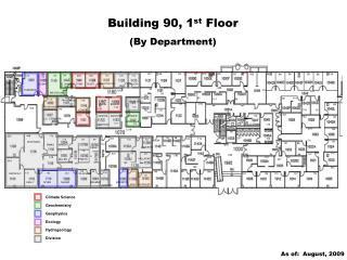 Building 90, 1 st  Floor (By Department)